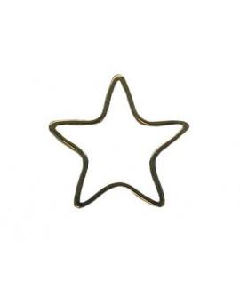 Colgante estrella 21mm +BAÑOS