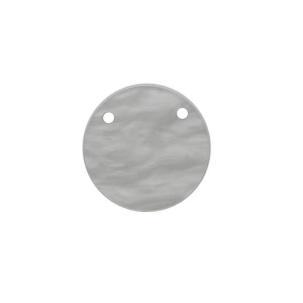 Moneda nacar 28mm doble agujero