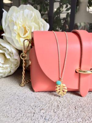 collar-gargantilla-cadena-minimalista-abalorio-hoja-palemera-esmaltada-bola-cristal-facetada-verano-alegria-optimismo4